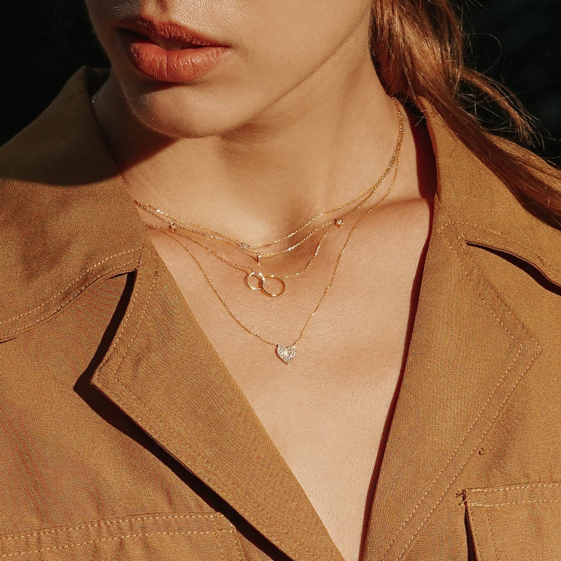 HELEN | Interlinked Circles Necklace