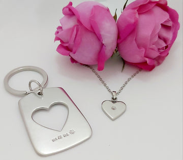 White Heart key ring, Special Edition on Mother's Day