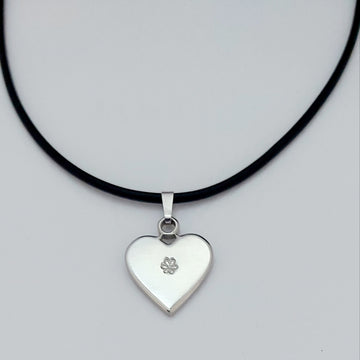 White Heart pendant