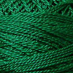 Valdani Perlé Cotton Solid: 1252 - Rich Green Dark - Hattie & Della