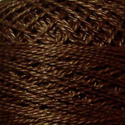 Valdani Perlé Cotton Solid: 172 - Rich Medium Brown - Hattie & Della