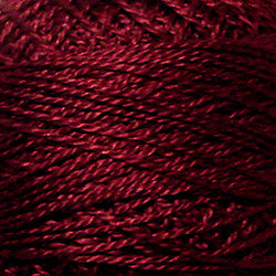 Valdani Perlé Cotton Solid: 1334 - Rusty Burgundy - Hattie & Della