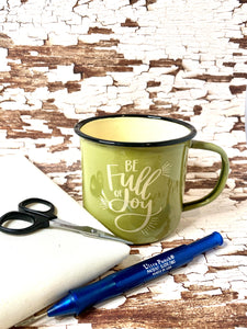 Gift Bundle 17:  Joy Mug + Punch Needle + 1/2 Yard Weavers Cloth +Kai 4in Scissors