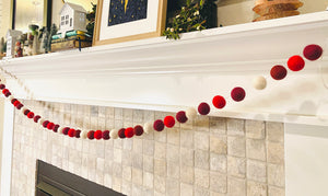 You String - Garland Wool Balls ONLY: Candy Cane & Snowy Trees