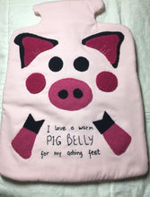 "Load image into Gallery viewer, ""Warm Pig Belly"" Hot Water Bottle Pattern by HattieAndDella"