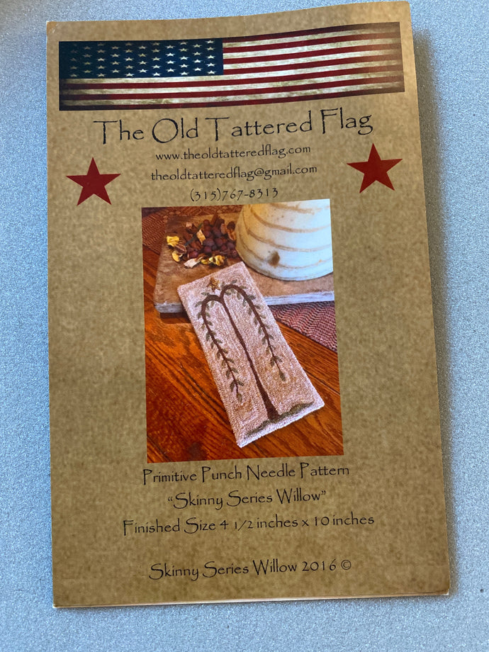 Punch Needle Pattern - Skinny Series Willow by Old Tattered Flag