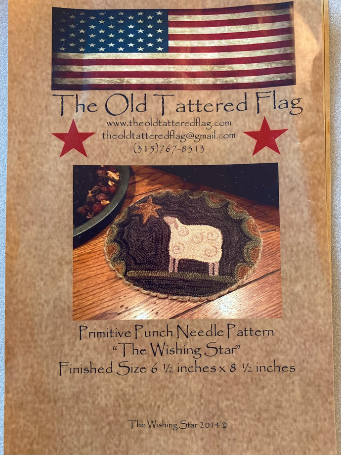 Punch Needle Pattern + Thread Kit - Wishing Star by Old Tattered Flag