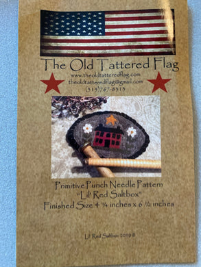 Punch Needle Pattern - Lil' Red Saltbox by Old Tattered Flag