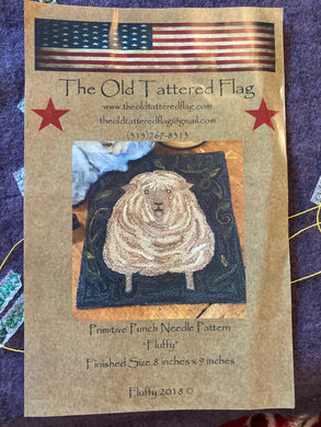 Punch Needle Pattern - Fluffy by Old Tattered Flag