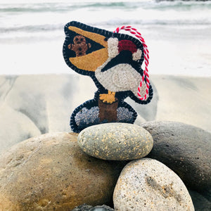 WOOL KIT + Printed Pattern: Christmas By The Sea - Pelican