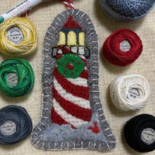 Load image into Gallery viewer, WOOL KIT + Printed Pattern: Christmas By The Sea - Lighthouse