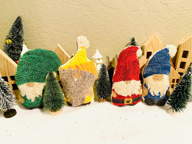 Lil Gnomes Friends: Punch Needle Pattern + Valdani +Half Yard Weavers Cloth