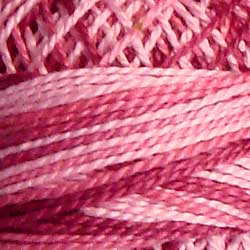 Valdani 3 Strand-Floss Variegated: M14 - Roses - shades of rose and pink - Hattie & Della