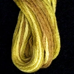 Valdani 6 Strand  Embroidery Floss Variegated: M16 - Golden Accents - Hattie & Della