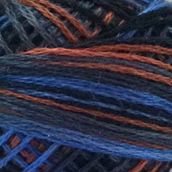 Valdani 3 Strand-Floss: M53 - Moonlit Mountains - dk. blues, browns, charcoal, light - Hattie & Della