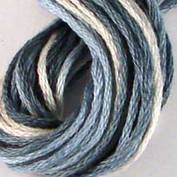 Valdani 6 Strand  Embroidery Floss Variegated: M680 - White Blue - Limited Edition!