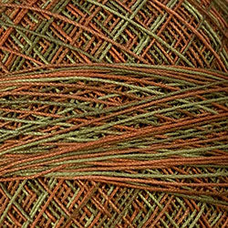 Crochet Cotton-Variegated: M78 - Copper Leaf