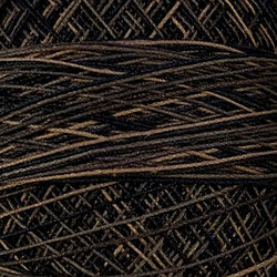 Crochet Cotton-Variegated: O111 - Black Stone