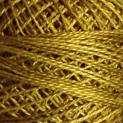Valdani Perlé Cotton Variegated: O153 - Golden Moss - Hattie & Della