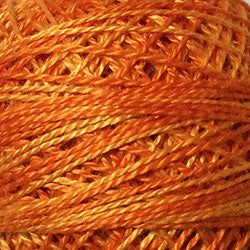 Valdani Perlé Cotton Variegated: O244 - Love of Life - Beautiful Oranges - Hattie & Della