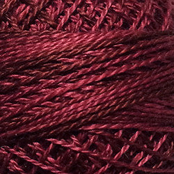 Valdani Perlé Cotton Variegated:O507 - Rich Wine - rose burgundy, muted mulberry fuchsia - Hattie & Della
