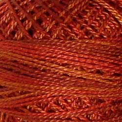 Valdani Perlé Cotton Variegated:O510 - Terracotta Twist - superb terracotta shades, rust, burnt orange - Hattie & Della