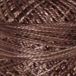 Valdani Perlé Cotton Variegated:O512 - Chimney Dust - earth beiges, medium dusty browns, washed tans - Hattie & Della