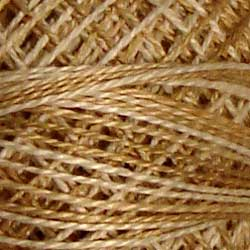 Valdani Perlé Cotton Variegated:O514 - Wheat Husk - quiet beiges, tans, natural, tanned off-white - Hattie & Della
