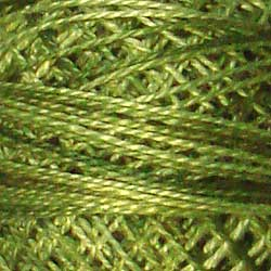 Valdani Perlé Cotton Variegated: O519 - Green Olives - shades of olive greens - Hattie & Della