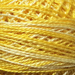Valdani Perlé Cotton Variegated:O551 - Sunshine - sunny yellows - Hattie & Della