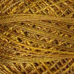 Valdani Perlé Cotton Variegated:P5 - Tarnished Gold -Vintage Hues for J.Paton - Hattie & Della