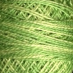 Valdani Perlé Cotton Variegated: O19 - Spring Greens - Hattie & Della