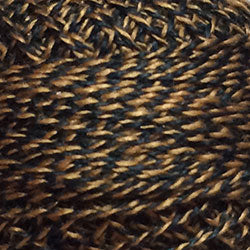 Valdani Perlé Cotton Variegated: PT12 - Black Gold - Twisted Tweed by J. Paton - Hattie & Della
