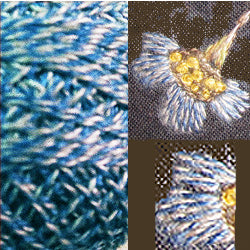 Valdani Perlé Cotton Variegated: PT3 - Blue - Twisted Tweed by J. Paton - Hattie & Della