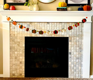 DIGITAL DOWNLOAD: Pumpkin Patch Wool Garland Pattern - Hattie & Della