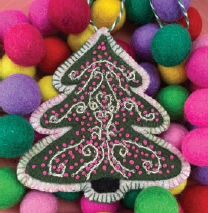 DIGITAL DOWNLOAD: Sugar Plum Parish Christmas Ornament - Swirly Twirly Tree