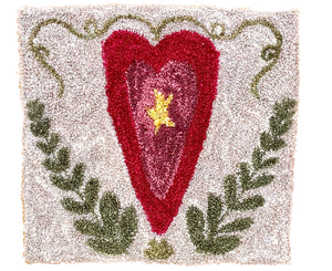 Your Heart in My Heart Punch Needle Printed Pattern + Thread Kit