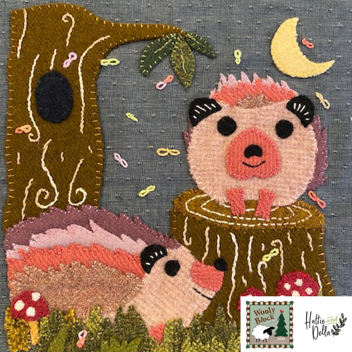Hedge on a Wedge PRINTED PATTERN ONLY For Wooly Block Adventure Block by Hattie And Della