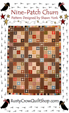 Rusty Crow Pattern - Nine-Patch Churn