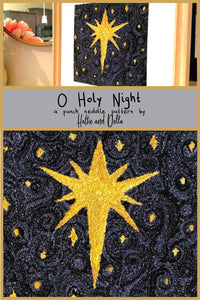 O Holy Night Printed Punch Needle Pattern + Thread Kit - Hattie And Della