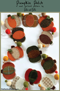Pumpkin Patch Wool Garland Kit - Hattie & Della