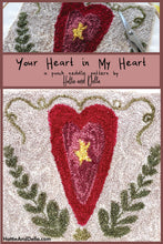 Load image into Gallery viewer, Your Heart in My Heart Punch Needle Printed Pattern + Punch Needle + Thread Kit