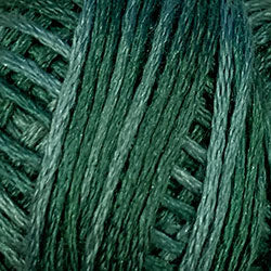 Valdani 6 Strand-Silk Variegated Floss : O39 - Forest Greens