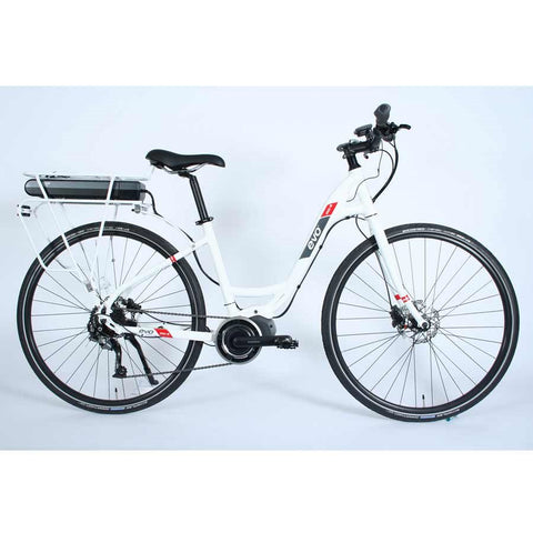 Evo e-Bikes Step MD-2 Electric Bicycle, White