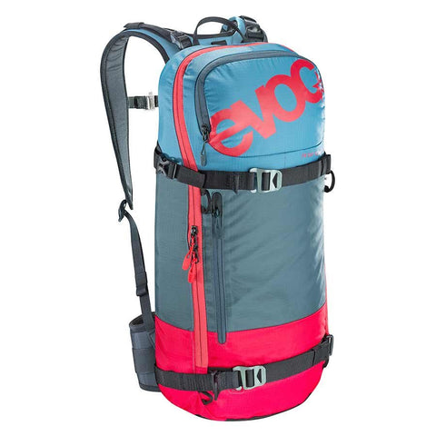 EVOC FR Day Team Snow Protector 16L Backpack Red/Slate/Copenhagen Blue