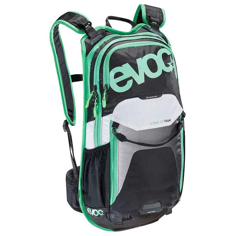 EVOC Stage 12L Technical Performance Backpack, Black/White/Green
