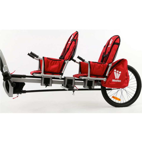 Weehoo iGo Two Seat Trailer for Bike, 2 Passenger