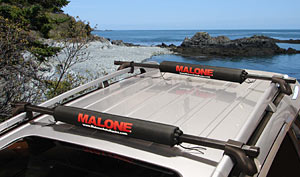 "Malone SUP Rack Pads in 25"" and 30"" lengths"