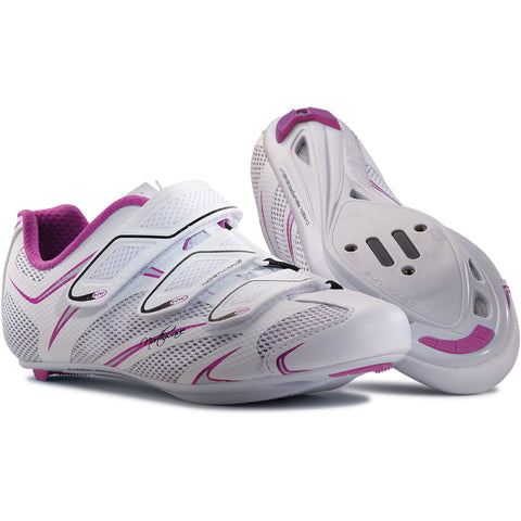 Northwave Starlight 3S Road Bike Shoes - Women White/Purple/Silver