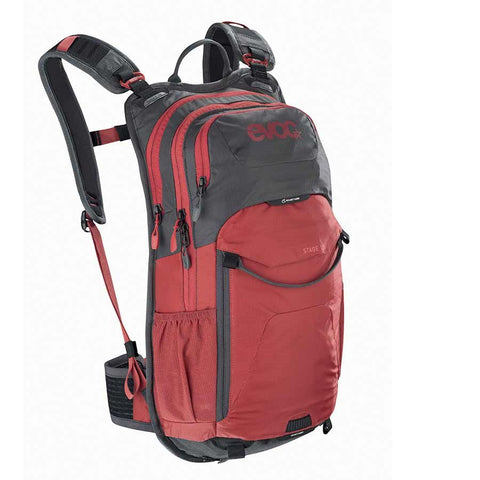 EVOC Stage 12L Technical Performance Backpack, Carbon Grey/Chili Red